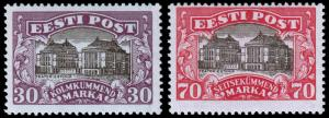Estonia Scott 81-82 (1924) Mint H F-VF, CV $25.00