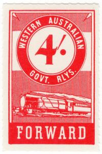 (I.B) Australia - Western Australia Railways : Parcels 4/-