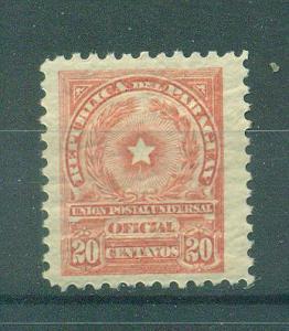 Paraguay sc# O89 mh cat value $.30