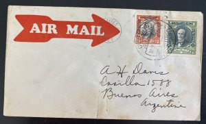 1929 Santiago Chile Early Airmail Cover To Buenos Aires Argentina