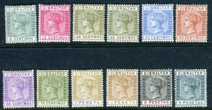 GIBRALTAR-1889 5c to 5p set.  A fine mounted mint set of 12 Sg 22-33