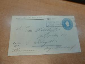 Costa Rica PSE 10c 1907 via New Orleans to Germany  (2bec)