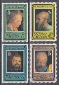 Solomon Islands Scott #373-376 MNH