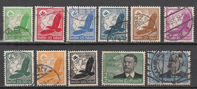 Germany - 1934 Air stamp complete set  Sc# C46/C56 (5923)