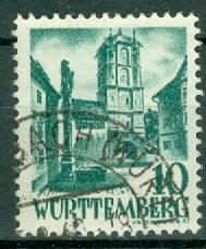 Germany - French Occupation - Wurttemberg - Scott 8N33
