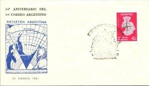 ARGENTINA ARCTIC ANTARCTIC POLAR CANCEL / CACHET #131