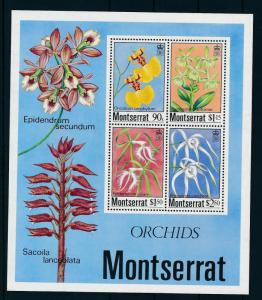 [15026] Montserrat 1985 Flora Flowers Orchids Souvenir Sheet MNH