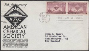 USA 1951 CHEMICAL SOCIETY - C Stephen Anderson FDC to New Zealand...........M481
