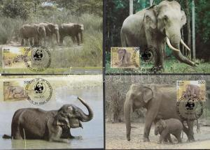 Sri Lanka stamp WWF elephants set on 4 CM Cover 1986 Mi 753-756 WS143115