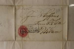 German Prussia #17 1sg cover 1863 folded letter Berlin Potsdam Germany DC