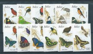 Belize 932-43 1990 Birds and Butterflies set MNH