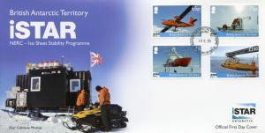 British Antarctic Territory BAT 2014 FDC iSTAR NERC 4v Set Cover Ice Sheet Stab