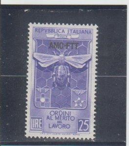 Trieste  Scott#  167  MH  (1953 Overprinted)