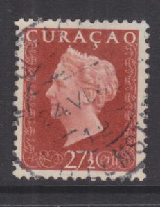 CURACAO, 1948 Wilhelmina 27 1/2c. Orange Brown, used.