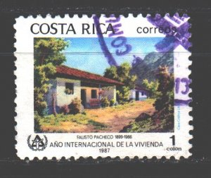 Costa Rica. 1987. 1342. Traditional housing, house. USED.