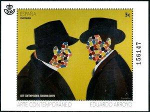 HERRICKSTAMP NEW ISSUES SPAIN Sc.# 4264 Contemporary Art, Eduardo Arroyo S/S