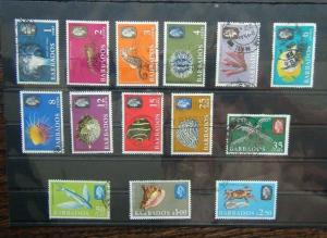 Barbados 1965 Marine Life set to $2.50 SG322 - SG335 Used