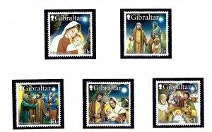 Gibraltar 854-59 MNH 2000 Christmas  (KA)