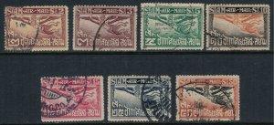 Thailand #C1-7  CV $14.55  First airmail issue