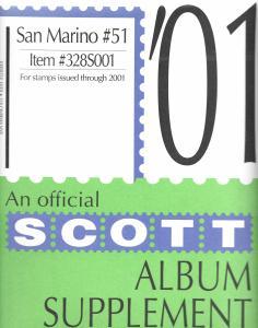 Scott San Marino #51 Supplement 2001