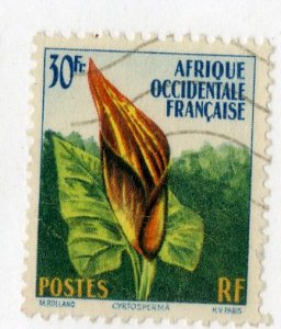 FRENCH WEST AFRICA 81 USED BIN .75 FLOWER