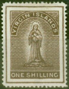 Virgin Islands 1887 1s Deep Brown SG41 Fine Mtd Mint