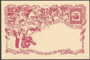 GB WONDERLAND Gerald King SNARK ISLAND fantasy postcard.....................R257