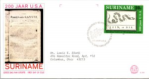 Suriname, Worldwide First Day Cover
