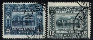 Eritrea SC# 47 & 48 Used - Lot 110815