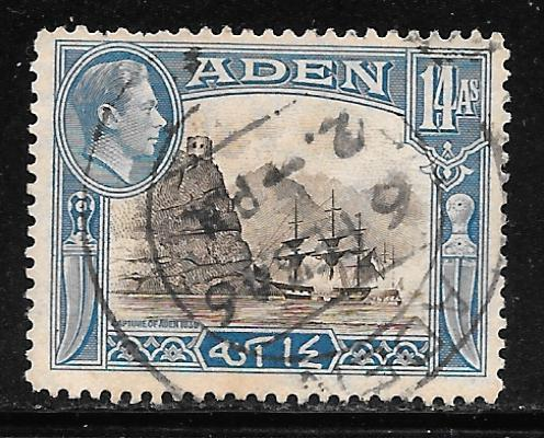 Aden 23A: 14a Capture of Aden, 1839, by Rundle, used, F-VF