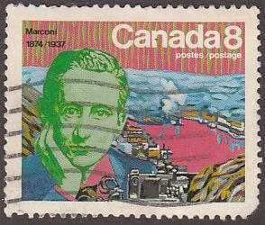Canada 654 Used 1974 Guglielmo Marconi