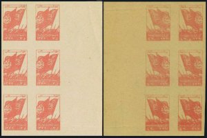 Afghanistan 411 imperf block/6,offset,MNH.Mi 396B. Free Pashtunistan Day 1953.