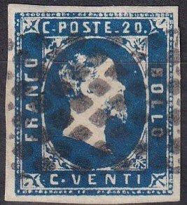 Sardinia #2 F-VF Used  CV $300.00  (Z1244)