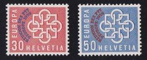 Switzerland   #376-377  MNH 1959  REUNION overprint