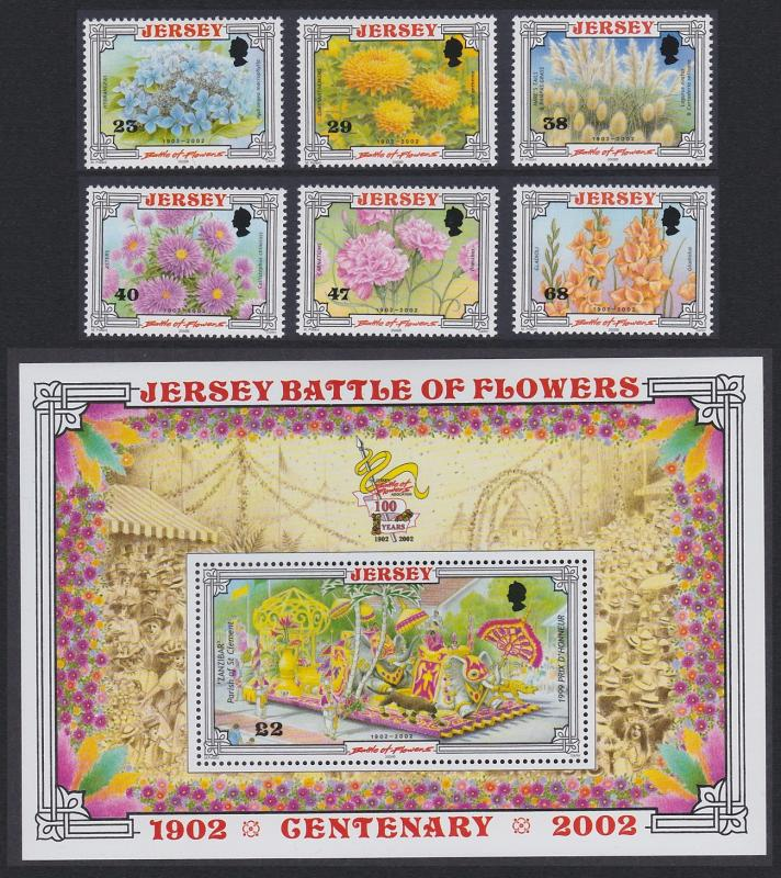Jersey Centenary of 'Battle of Flowers' Parade 6v+MS SG#1053-MS1059 SC#1042-1048