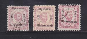 Montenegro 25a-25b, 25d U Prince Nicholas I