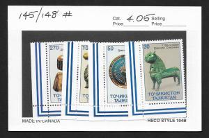 TAJIKISTAN Sc#145-148 Mint Never Hinged Complete Set
