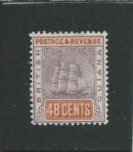 BRITISH GUIANA 1889 48c DULL PURPLE & ORANGE-RED MM SG 202 CAT £42