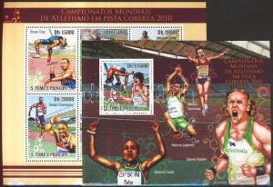 Sao Tomé e Príncipe stamp Athletics World Cup mini sheet + block MNH WS102866