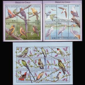 ZAIRE 2000 - Scott# 1534-6 S/S Birds NH