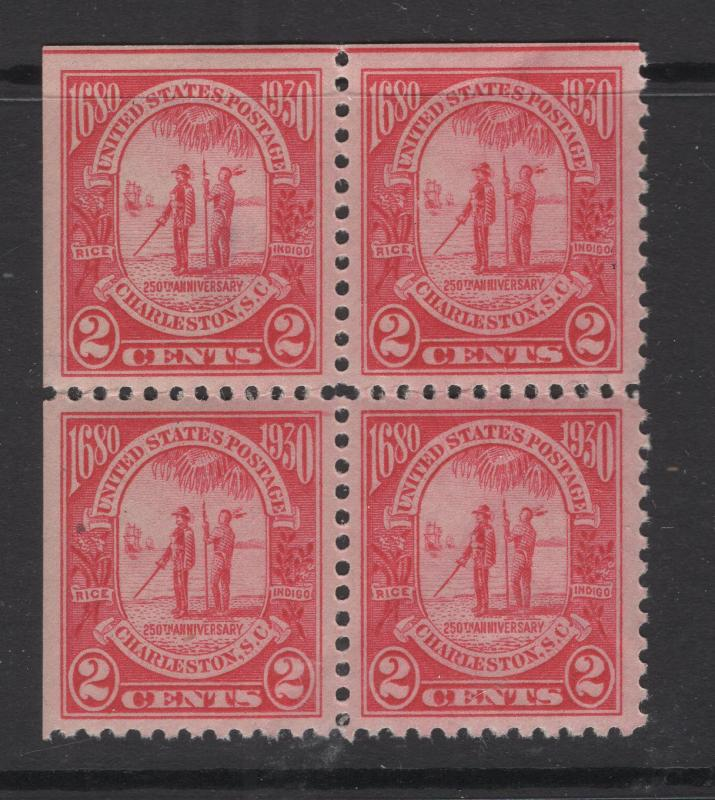 United States 1930 Gov. Joseph West & Chief Shadoo Block of 4 Stamps Scott 683 M