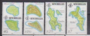 1982 Seychelles # 487-490 MNH Islands