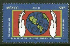 MEXICO 2317,  International Day Against Illegal USE OF Drugs. MINT, NH. VF.