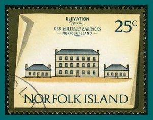 Norfolk Island 1975 Buildings IV, 25c used  #168,SG145