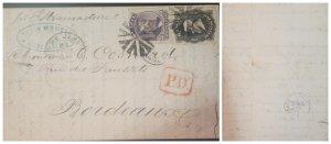 O) 1869 BRAZIL, P.D. - EMPEROR DOM PEDRO SC 57 80r, DOM PEDRO SC 59 200r, FROM
