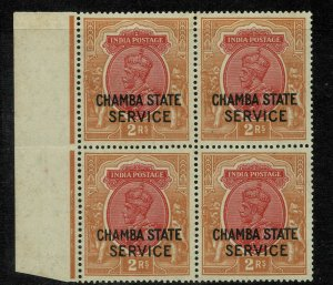 india- chamba state - sg no 058 bl of 4 high cv 200 gbp +