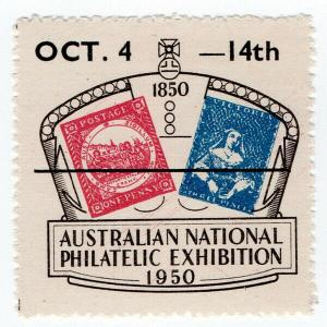 (I.B) Australia Cinderella : Australian National Philatelic Exhibition (1950)
