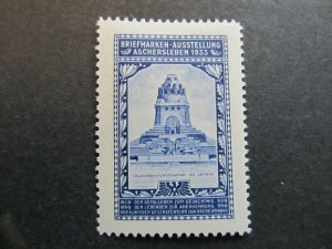 A4P2F49 Germany Poster Stamp 1933 International Philatelic Exhibition mh*
