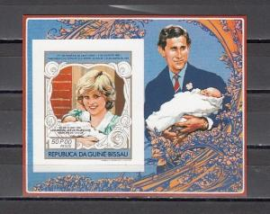 Guinea Bissau, Scott cat. 456. Diana`s Royal Baby, IMPERF s/sheet
