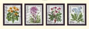 Iceland Sc 567-70 1983 Flowers stamp set used